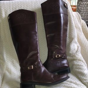 VINCE CAMUTO  BROWN  LEATHER  OVER The KNEE BOOTS